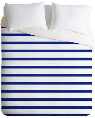 Deny Designs Holli Zollinger Nautical Stripe Queen Duvet Set Bedding