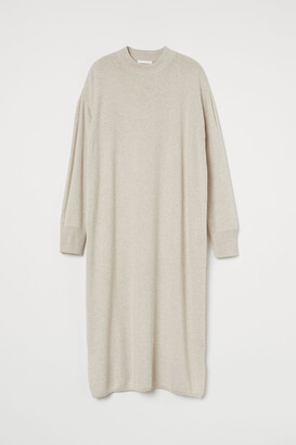 H&M Fine-knit Dress - Brown