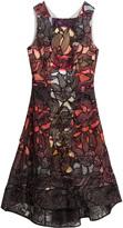 Peter Pilotto 26 Eclipse Ss Blk Lace Dress