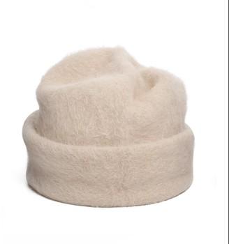 Justine Hats Ivory Angora Beanie Hat
