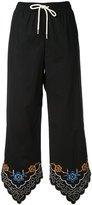 See by Chloe floral trim drawstring trousers - women - Cotton - 36