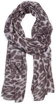 MANGO Animal print sheer foulard