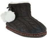 Cuddl Duds As Is Faux Fur Lined Ankle Bootie Slipper w/ Foam Insole