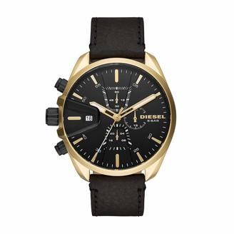 Diesel Men's Chronograph Quartz Watch with Leather Strap DZ4516