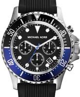 Michael Kors MK8365 Everest Black Dial Silicone Strap Men