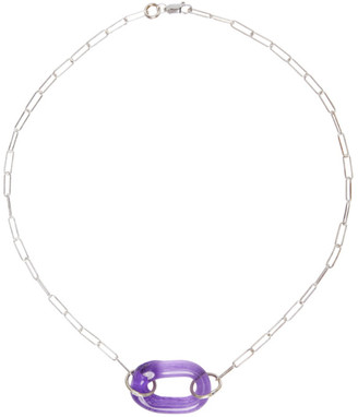 Maryam Nassir Zadeh Purple Love Link Necklace
