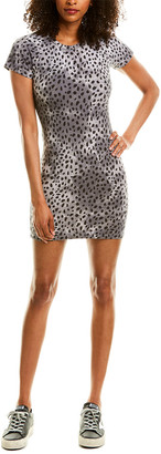 Monrow Cheetah Print Sheath Dress