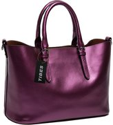 Tibes Genuine Leather Large Vacation Tote Lady Handbag Purse