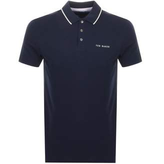 Ted Baker Bloko Polo T Shirt Navy