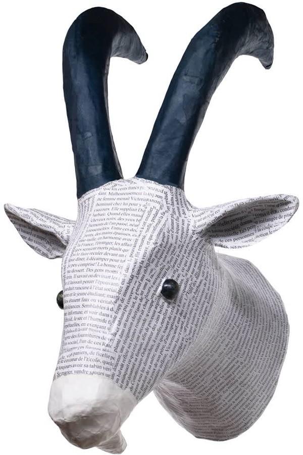Caribbean Craft Papier Mache Antelope Head
