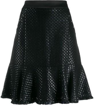 Karl Lagerfeld Paris Karl's Treasure boucle skirt