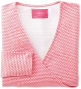 Charles Tyrwhitt Women's coral shell printed jersey wrap top