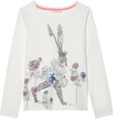 Billieblush Billie Blush Cat print long-sleeved cotton top 4-12 years