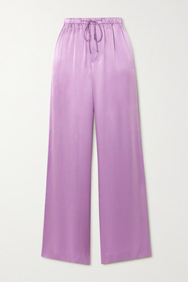 Vince Silk-satin Wide-leg Pants - Lavender