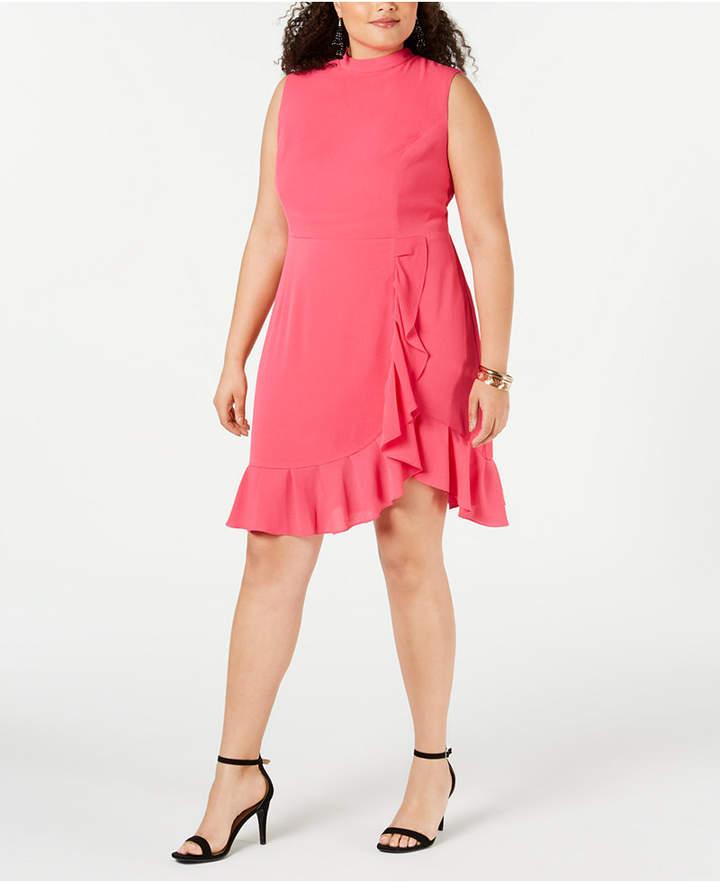 Plus Size Ruffled Dress - ShopStyle
