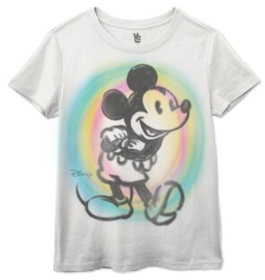 Junk Food Clothing Cotton Mickey-Mouse Spray-Paint Graphic T-Shirt