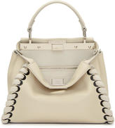 Fendi White Mini Peekaboo Bag