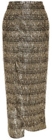 Baja East Lurex-fringed Chiffon Wrap Skirt - Gold