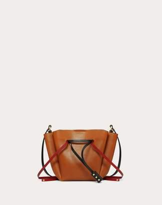 Valentino Garavani Medium Vlogo Cowhide Bucket Bag Women Tan OneSize