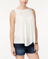 American Rag Crochet-Trim Handkerchief-Hem Tank Top, Only at Macy's
