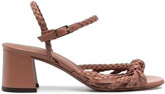 L'Autre Chose Braided-Strap Leather Sandals