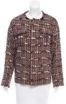 TOMORROWLAND Fringe Trimmed Tweed Jacket