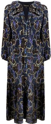 Saloni Mixed Print Flared Dress