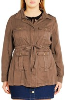 City Chic 'Adventure' Utility Jacket (Plus Size)