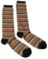Missoni Gm00cmd5218 0003 Green/orange Knee Length Socks.