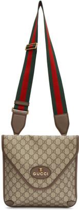 Gucci Beige Neo Vintage GG Supreme Messenger Bag