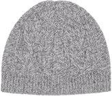 Reiss Reiss Claude - Mottled Beanie Hat In Grey
