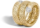 John Hardy Classic Chain Coil Ring in 18K Gold with Diamonds