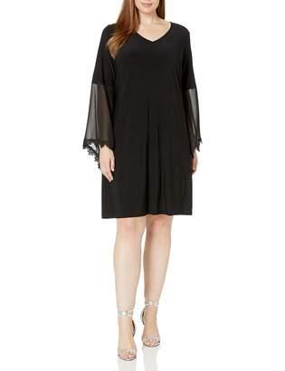 MSK Women's Size Plus Lace Bell Sleeve