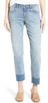 Petite Women's Caslon Release Hem Boyfriend Jeans
