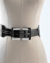 White House Black Market Double-Buckle Stretch Belt