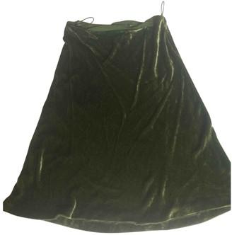 Philosophy di Alberta Ferretti Green Velvet Skirt for Women