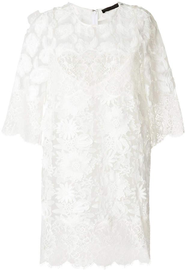 Amen scalloped lace dress
