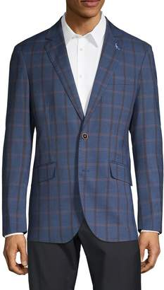 Tailorbyrd Stretch-Fit Windowpane Sportcoat