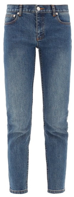 A.P.C. Etroit Court Low Rise Skinny Jeans - Womens - Denim