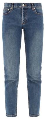A.P.C. Etroit Mid-rise Cropped Skinny-leg Jeans - Denim