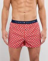 Tommy Hilfiger Woven Boxers Arrow Print In Red