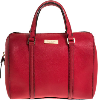 Kate Spade Red Leather Boston Bag