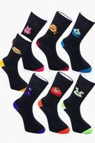Boohoo 7 Pack Monster Socks