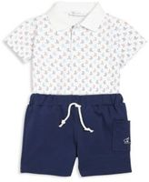 Kissy Kissy Baby's Two-Piece Brigatine Print Shirt & Bermuda Shorts Set