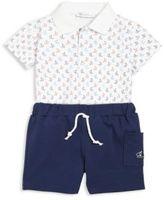 Kissy Kissy Baby's Two-Piece Brigatine Print Shirt & Bermuda Shorts Set
