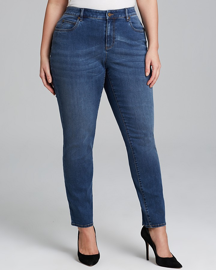 Vince Camuto Plus Classic Skinny Jeans