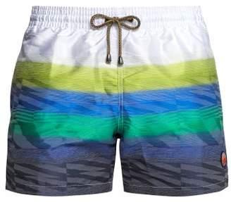 Missoni Mare - Striped Swim Shorts - Mens - Blue Multi