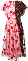 Simone Rocha Floral print tulle de chine dress