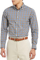 Daniel Cremieux Signature Slim-Fit Heather Check Poplin Long-Sleeve Woven Shirt