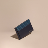 Burberry Colour Block London Leather Card Case